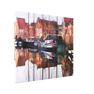 European Seaport Village Canvas Print
