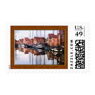 European Seaport Village Postage Stamp