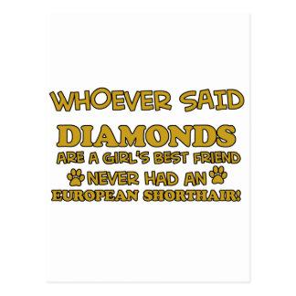 european shorthair better than Diamonds Postcard