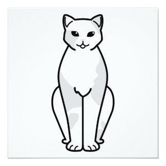 European Shorthair Cat Cartoon Card