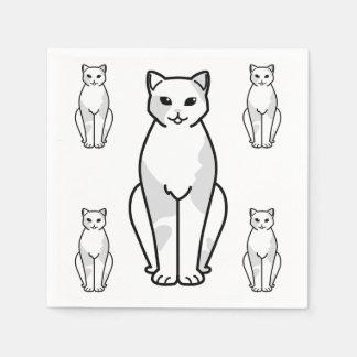 European Shorthair Cat Cartoon Standard Cocktail Napkin