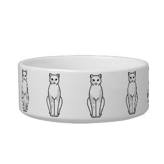 European Shorthair Cat Cartoon Cat Bowl