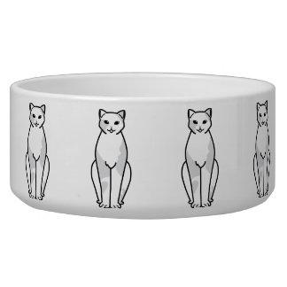 European Shorthair Cat Cartoon Pet Water Bowl