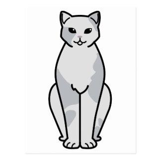 European Shorthair Cat Cartoon Postcard