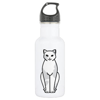 European Shorthair Cat Cartoon Stainless Steel Water Bottle