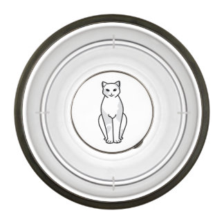 European Shorthair Cat Cartoon Pet Bowl