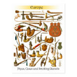 European smoking pipes, cases and utensils postcard