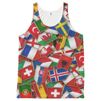 European Soccer Nations Flags All-Over Print Tank Top