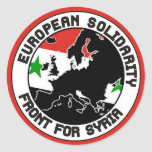 European solidarity for Syria Sticker