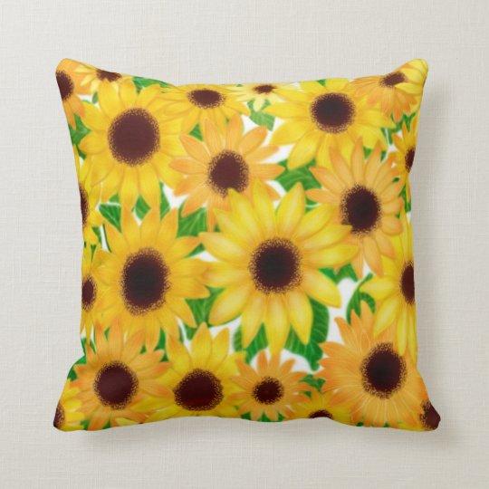 European Sunflowers Pillow