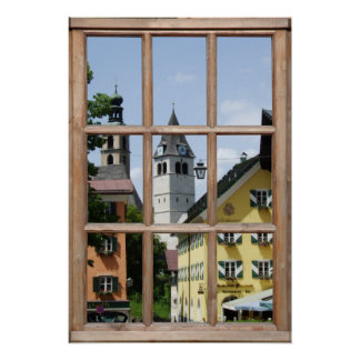 European Town View from a Window Poster