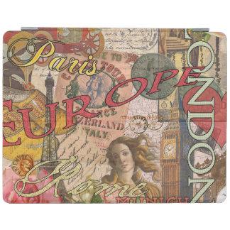 European Travel Vintage London Rome Paris iPad Cover