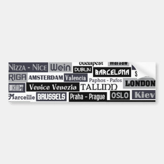 European Traveler custom bumpersticker Bumper Sticker