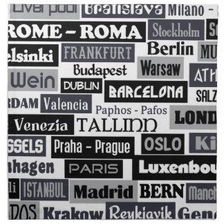 European Traveler custom cloth napkins
