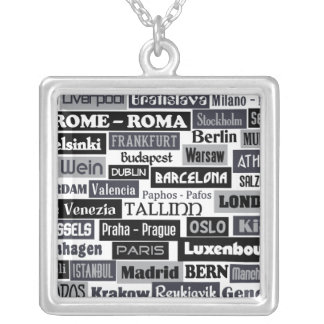 European Traveler custom necklace