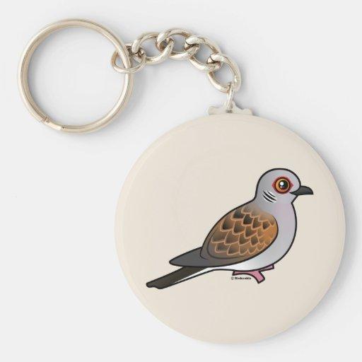 European Turtle Dove Keychains