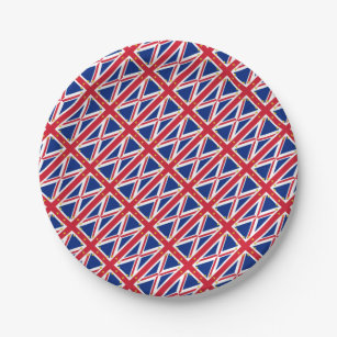 European UK United Kingdom Britain Union Jack Flag Paper Plate  sc 1 st  Zazzle & European Union Flag Plates | Zazzle