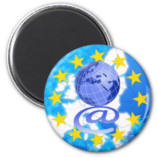 European Union 2 Inch Round Magnet