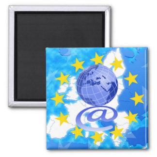 European Union 2 Inch Square Magnet