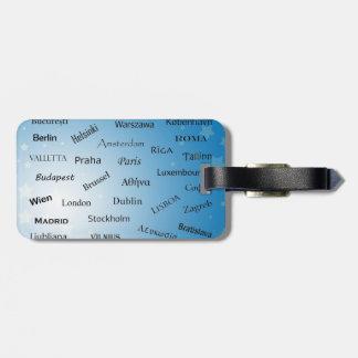 European Union Capitals Luggage Tag