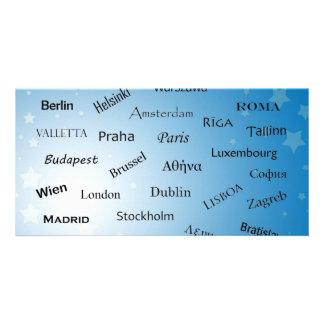 European Union Capitals Custom Photo Card