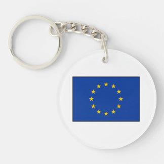 European Union - EU Flag Double-Sided Round Acrylic Keychain