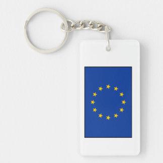 European Union - EU Flag Double-Sided Rectangular Acrylic Keychain