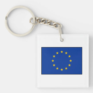 European Union - EU Flag Double-Sided Square Acrylic Keychain