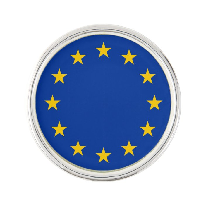 European Union EU Flag Lapel Pin Badge