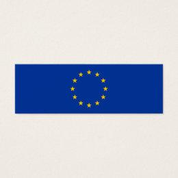European Union - EU Flag Mini Business Card
