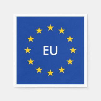 European Union EU flag paper party napkins