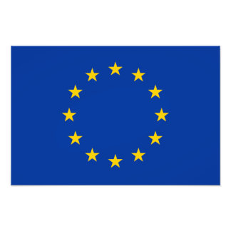 European Union - EU Flag Photo Print