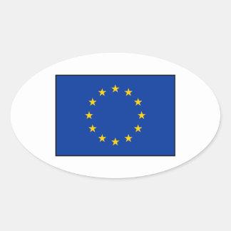 European Union - EU Flag Oval Sticker