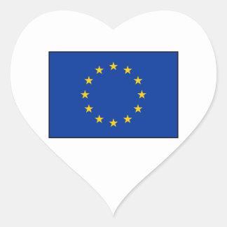 European Union - EU Flag Heart Sticker