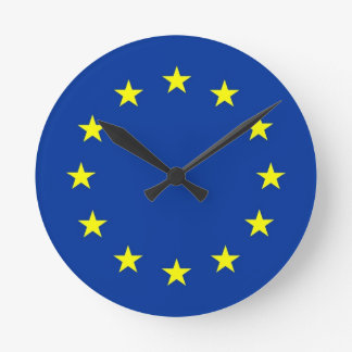 european union europe country flag clock
