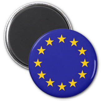 European Union Flag 2 Inch Round Magnet