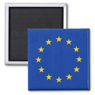 European Union Flag 2 Inch Square Magnet