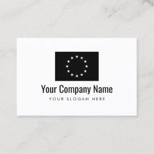 European union business cards templates zazzle european union flag company business card eu size colourmoves