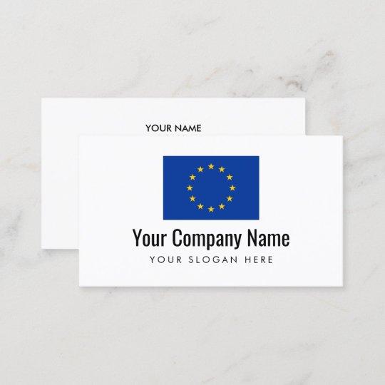European Union Flag Company Business Card Template