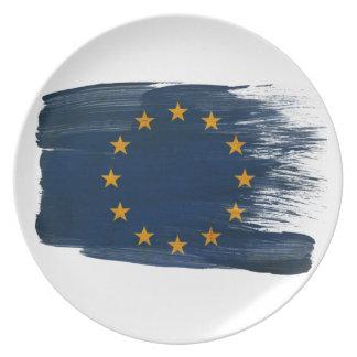 European Union Flag Dinner Plate