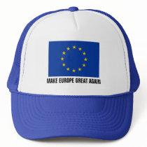 European Union flag hat   MAKE EUROPE GREAT AGAIN