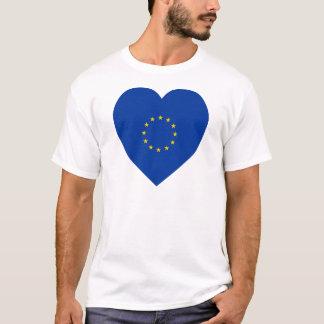 European Union Flag Heart T-Shirt