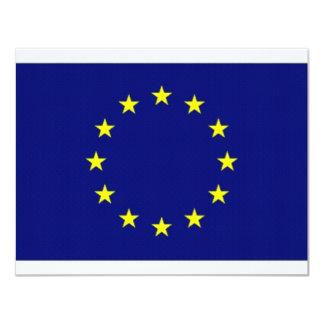 European Union Flag 4.25x5.5 Paper Invitation Card