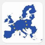European Union Flag Map Sticker