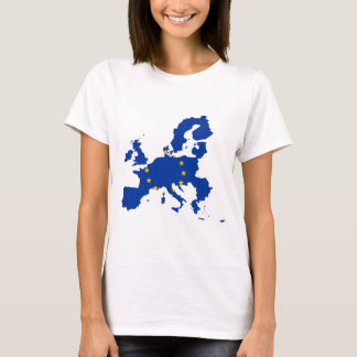 European Union Flag Map T-Shirt