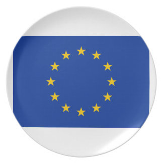 European Union Flag Melamine Plate