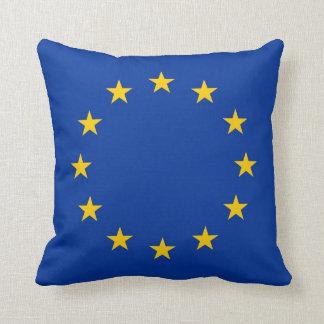 European Union Flag on American MoJo Pillow