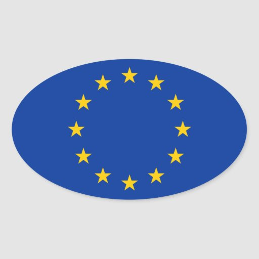 European Union Flag Oval Sticker Zazzle