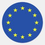european union flag round stickers