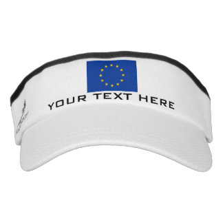 European Union flag sports sun visor cap hat